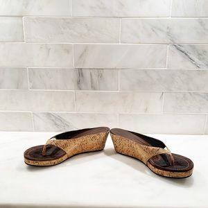 Donald J Pliner women's cork wedge sandals